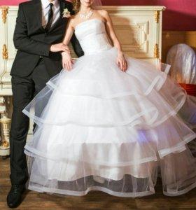 Свадебное платье для невесты-дюймовочки Р-р 38-42