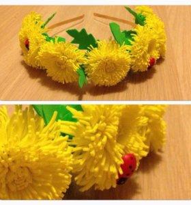 Ободки с цветами из фоамирана