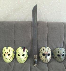 Jason Voorhees Machete and Mask Replica