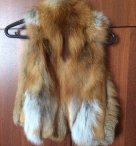 Детская меховая жилетка лиса