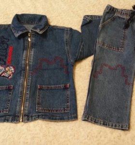 92 размер, 2 года Джинсовая куртка и джинсы