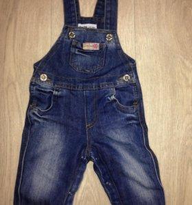 Комбинезон джинсовый детский