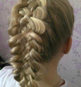 Плетение кос, прически