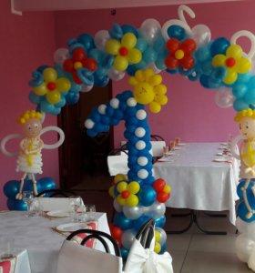 Оформление шарами любого праздника