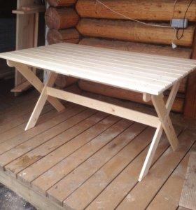 Стол 1,5м складной деревянный