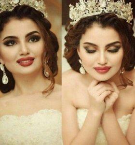 Свадебные прически и макияжи