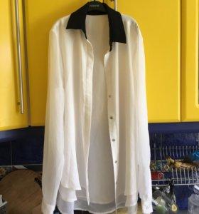 Рубашка белая стильная