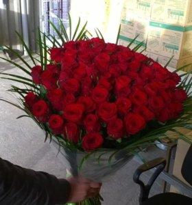Розы по Оптовым ценам, от 101 Розы скидки дешево!