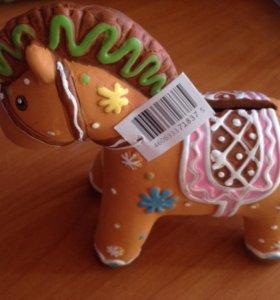 Копилка лошадь новая, ручная работа