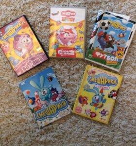 """DVD диски """"Смешарики""""."""