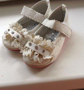 Туфли на девочек р20
