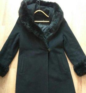 Теплое зимнее пальто 46-48