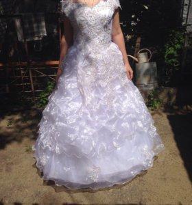 свадебное платье, корсет,