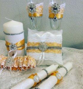 Набор свадебных аксессуаров расцветка любая