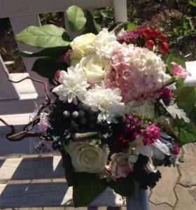 Цветы, букеты, букеты для невест, композиции, офое