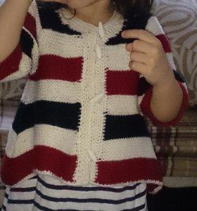 98 104 110 кофта свитер болеро летучая мышь новая