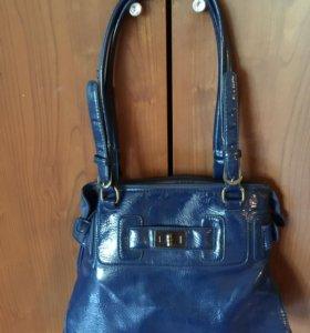 Фирменная кожаная сумка Marta Ponti