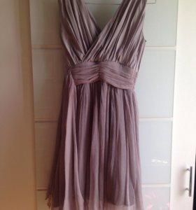 Платье из 100%шелка