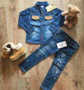 Новый джинсовый комплект Zara