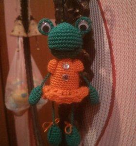 Брелок Счастливая лягушка