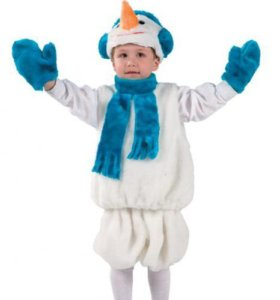 Костюм снеговик прокат продажа 3-7 лет