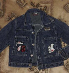 Джинсовая куртка р.110 (+3)