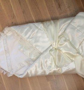 Одеяло на выписку с пелёнкой