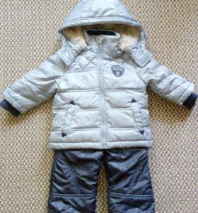 Куртка и штаны зимние 74-80 см
