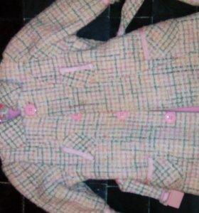 Пальто для девочки 98-104