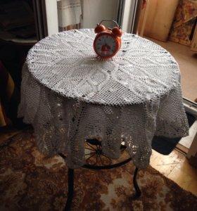 Вязаная скатерть на круглый столик