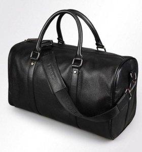 Шикарная дорожная сумка из натуральной кожи, Чёрна