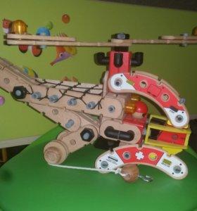 Деревянный конструктор вертолет Roys fun