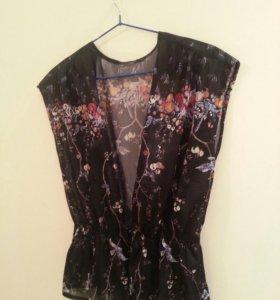 Нарядная блуза накидка