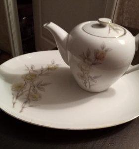СССР большой чайник+блюдо