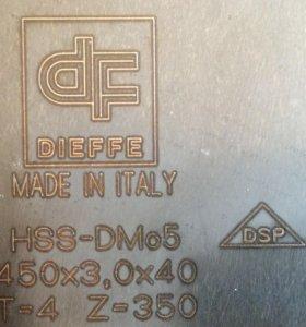 Дисковая фреза по металлу 450х3,0х40 Z=360 HSS BW