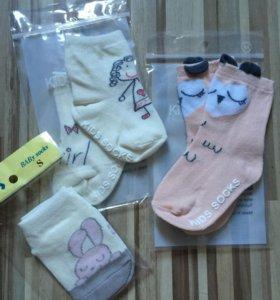 Детские носочки для маленьких девочек. Новые.