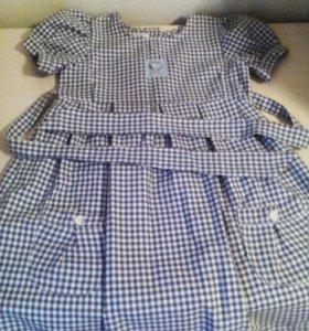 Платье, сарафан, юбочка с жилеткой