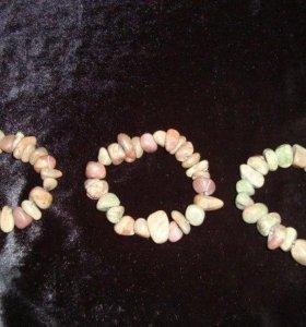 Бусы, браслеты, натуральный камень
