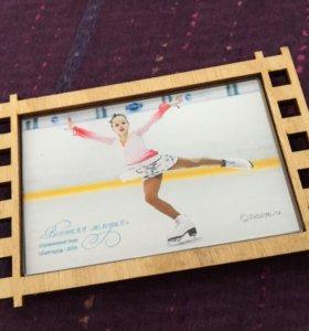 Фотомагнит сувенир из дерева с Вашим фото