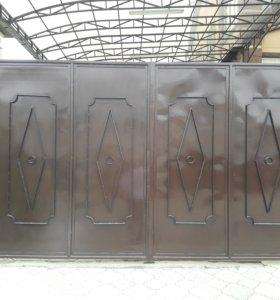 Уличные ворота+калитка