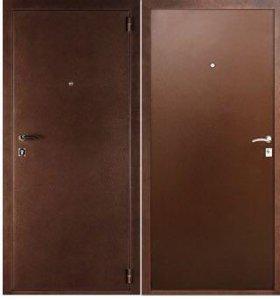 Стальная дверь с наружными петлями Стандарт-1