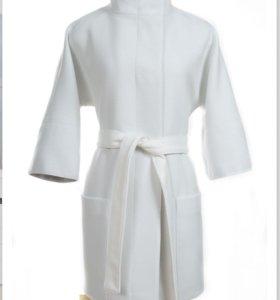 Белое пальто 46 размера