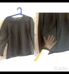 Блузка прозрачная S-M