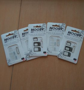 Адаптер для SIM карты Noosy microsim, nanosim карт