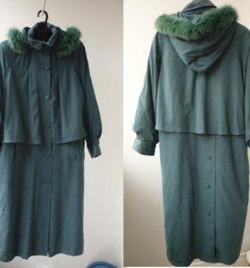 Пальто-Плащ + подстёжка. 52-56