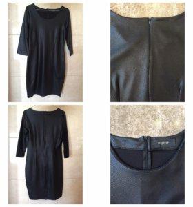 ⚜ Черное платье RESERVED  / кожа