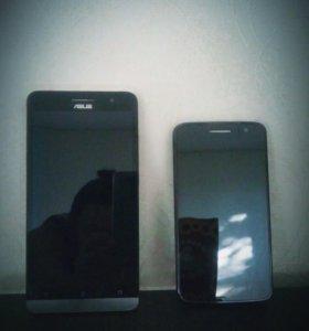 Смартфон.asus zenfone 6 ,alcatel one touch hd 8008