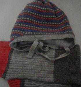 Продам деткую шапку и шарф .ФИРМЫ ШАЛУНЫ.