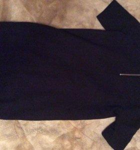 Короткое чёрное платье Страдивариус