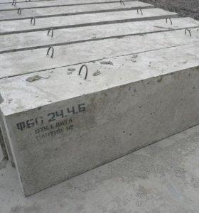 Блоки фундаментные ФБС 3'4'5'6 новые и бу.